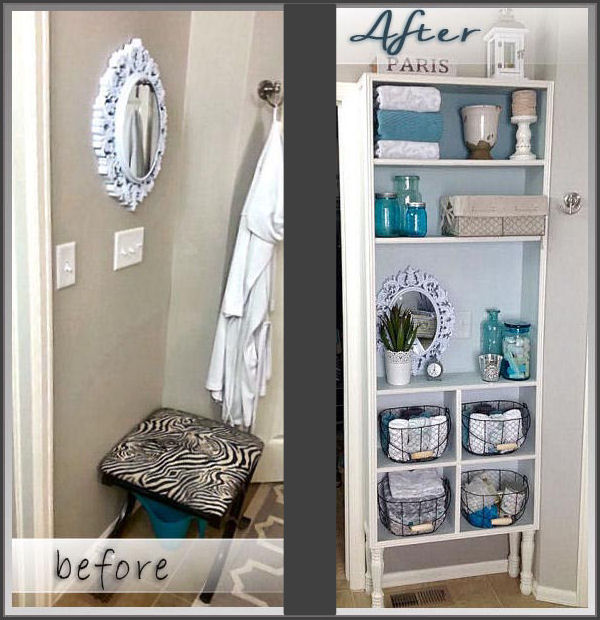 Before & After Bathroom Built Ins